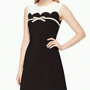 Kate Spade Scallop Bow Fit Flare Dress 12